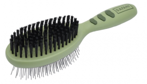 german shepherd double sided bristle and wire brush