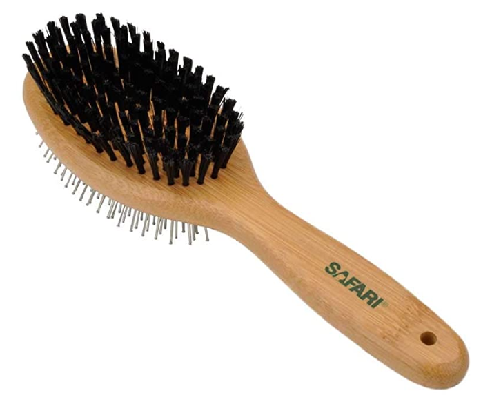 safari bamboo pin bristle combo brush